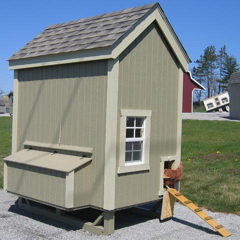 4x6 Colonial Gable Coop Kit lilcottage4x6gabeco