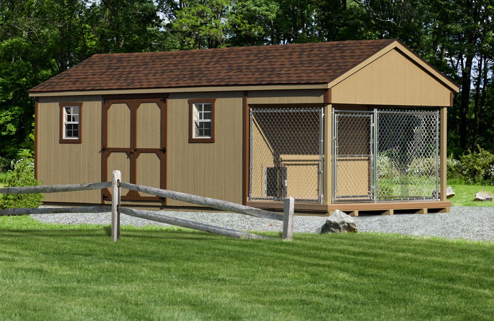 10x24 Kennel/Shed Combo 10x24kennel/shed