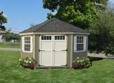 Colonial Five-Corner Shed 10x10