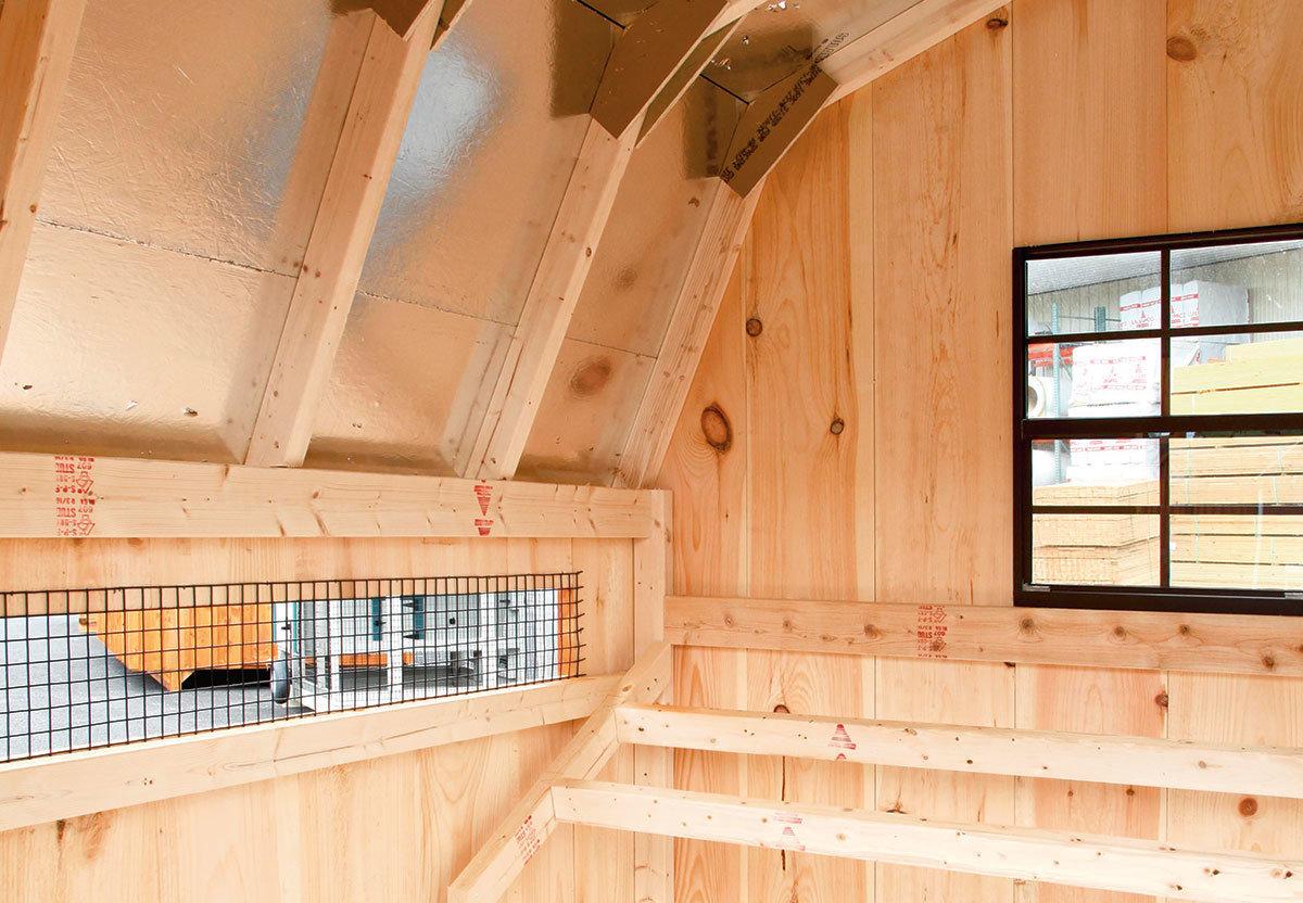 Dutch style walk-in coop interior