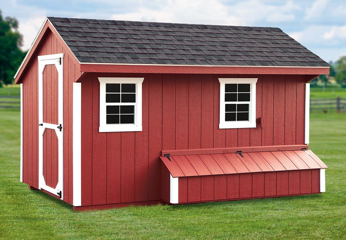 IHS Quaker Style 7x12 w/ Feed Room ihsq712