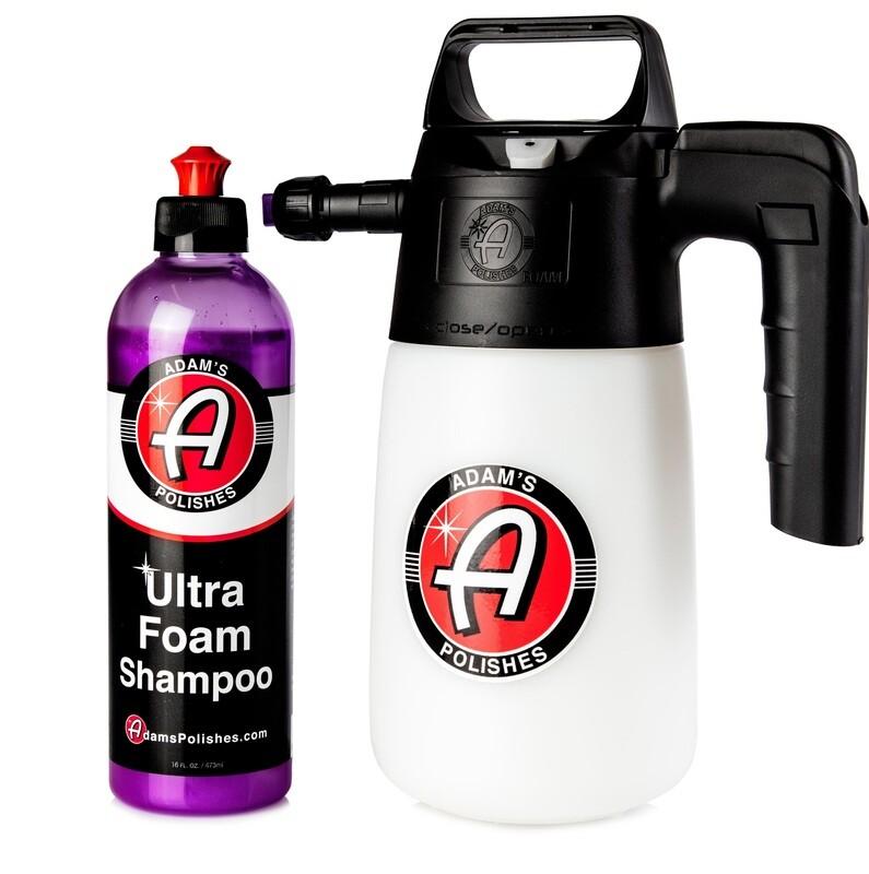 АВТОШАМПУНЬ ВЫСОКОПЕННЫЙ,473мл + ПЕННЫЙ РАСПЫЛИТЕЛЬ, КОМПЛЕКТ, / Adam's Pressurized 1.5 Foam Sprayer & Ultra Foam