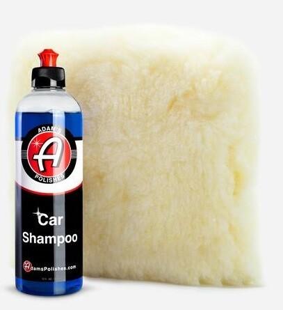 АВТОШАМПУНЬ ДЛЯ РУЧНОЙ МОЙКИ,КОМПЛЕКТ,473мл / ADAM'S CAR WASH SHAMPOO & Wash Pad Combo 16oz