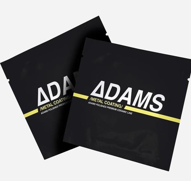 КЕРАМИЧЕСКОЕ ПОКРЫТИЕ ДЛЯ МЕТАЛЛА И ХРОМА, САЛФЕТКА-2ШТ / Adam's Ceramic Metal Coating Wipe-2st
