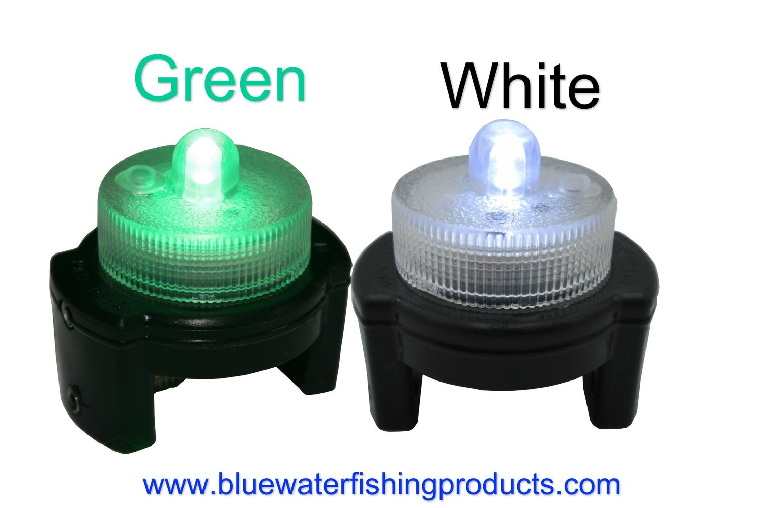 Planer Board LED Lights (3 Modes On/Off,Qty 2,White & Green)FREE SHIPPING