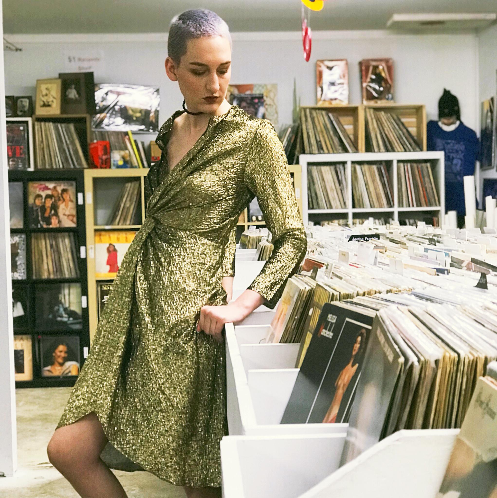 1980s Gold Dress 00004
