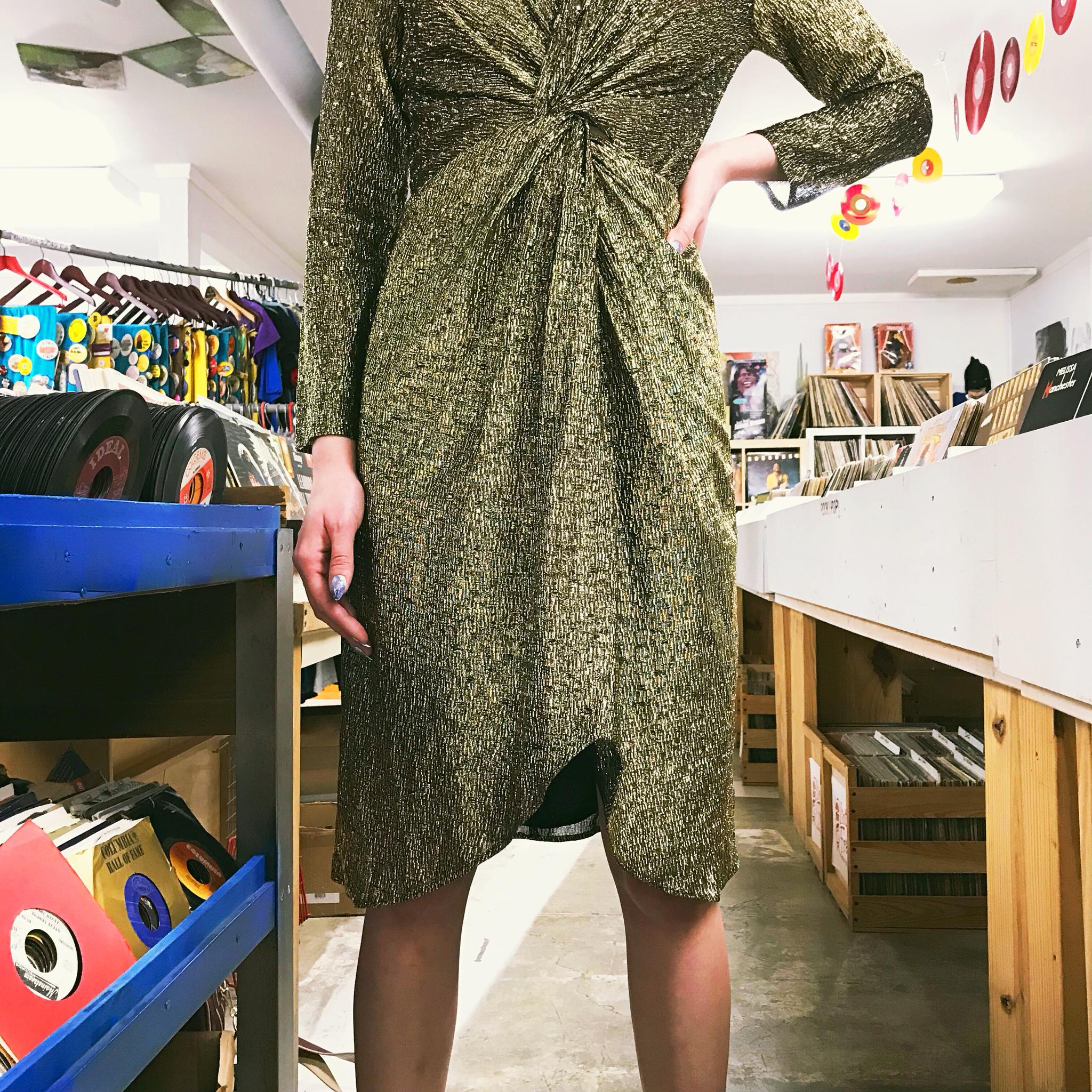 1980s Gold Dress