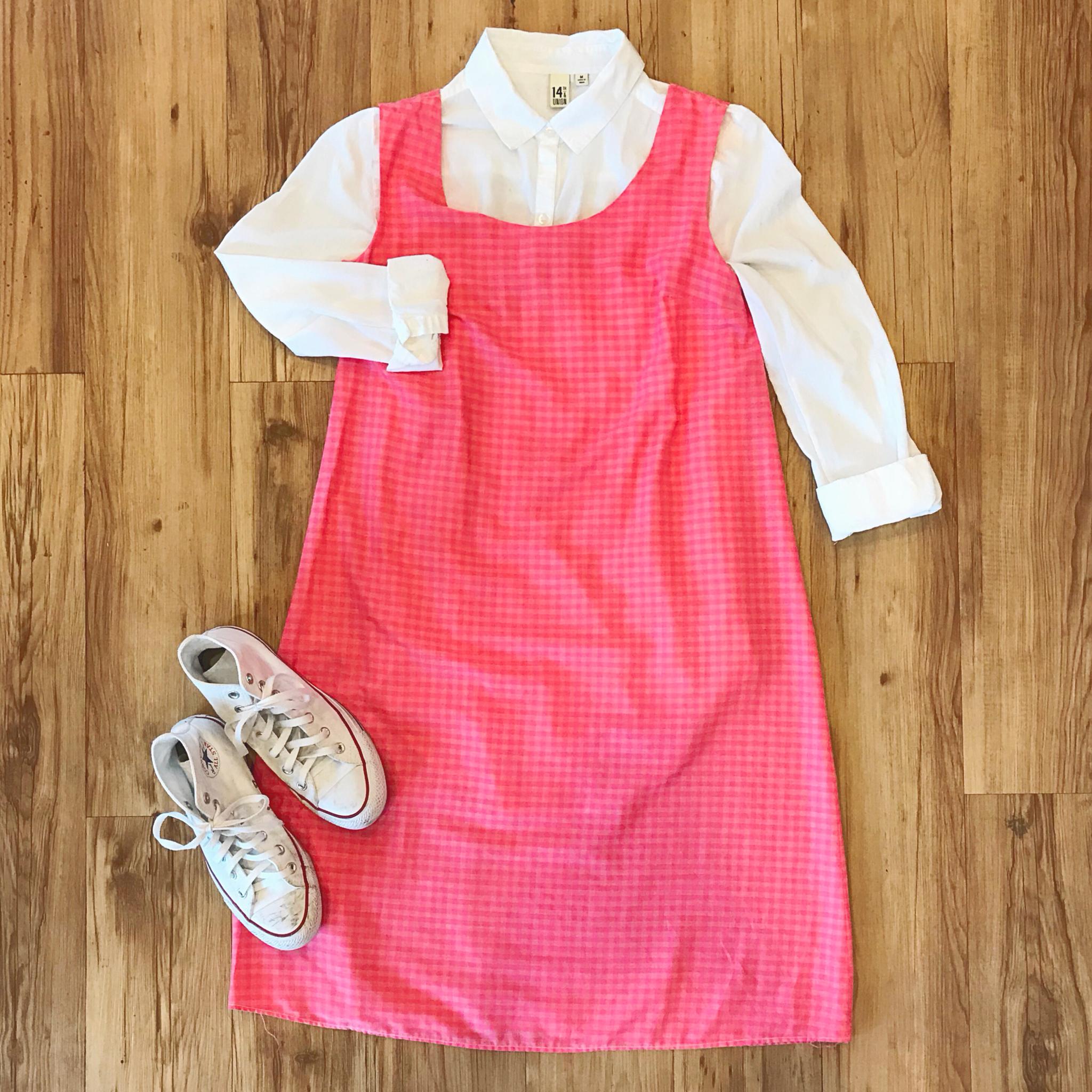 1960s Pink Gingham Dress 00003