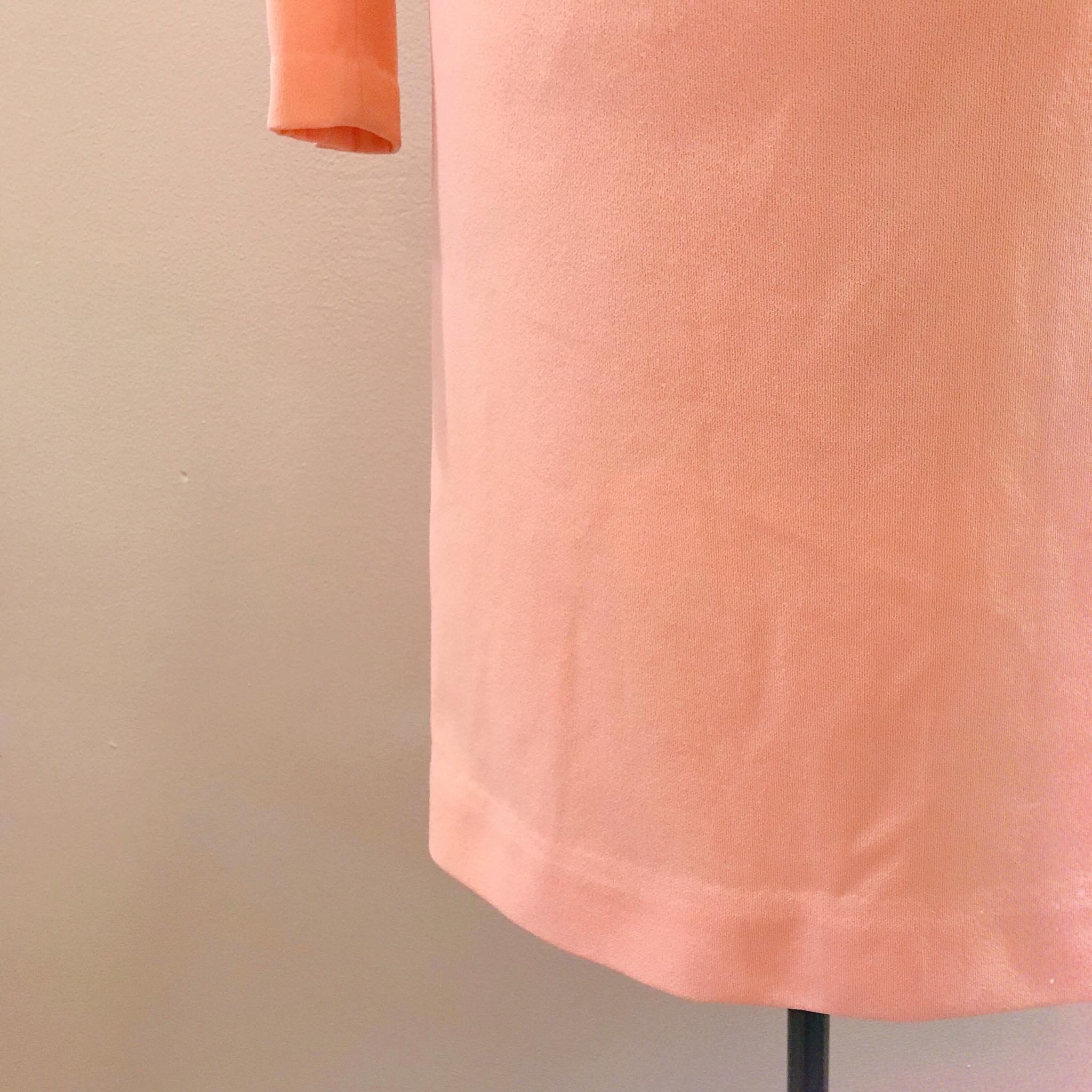 1960s Peach Shift Dress