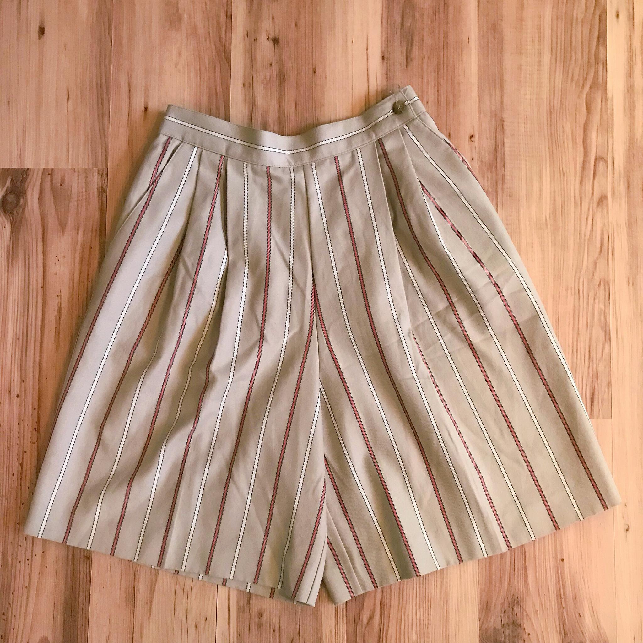 1980s Pinstriped Shorts