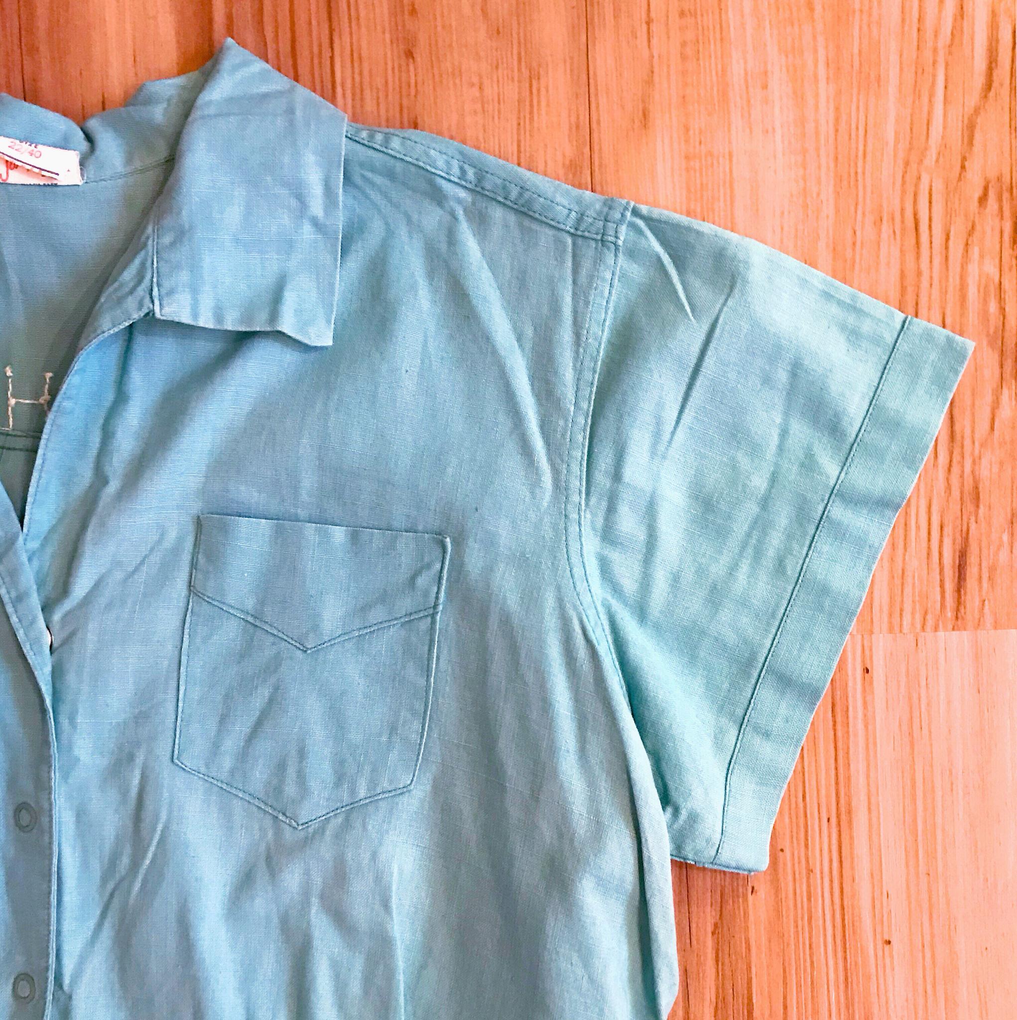 1950s Bright Blue Gym Uniform