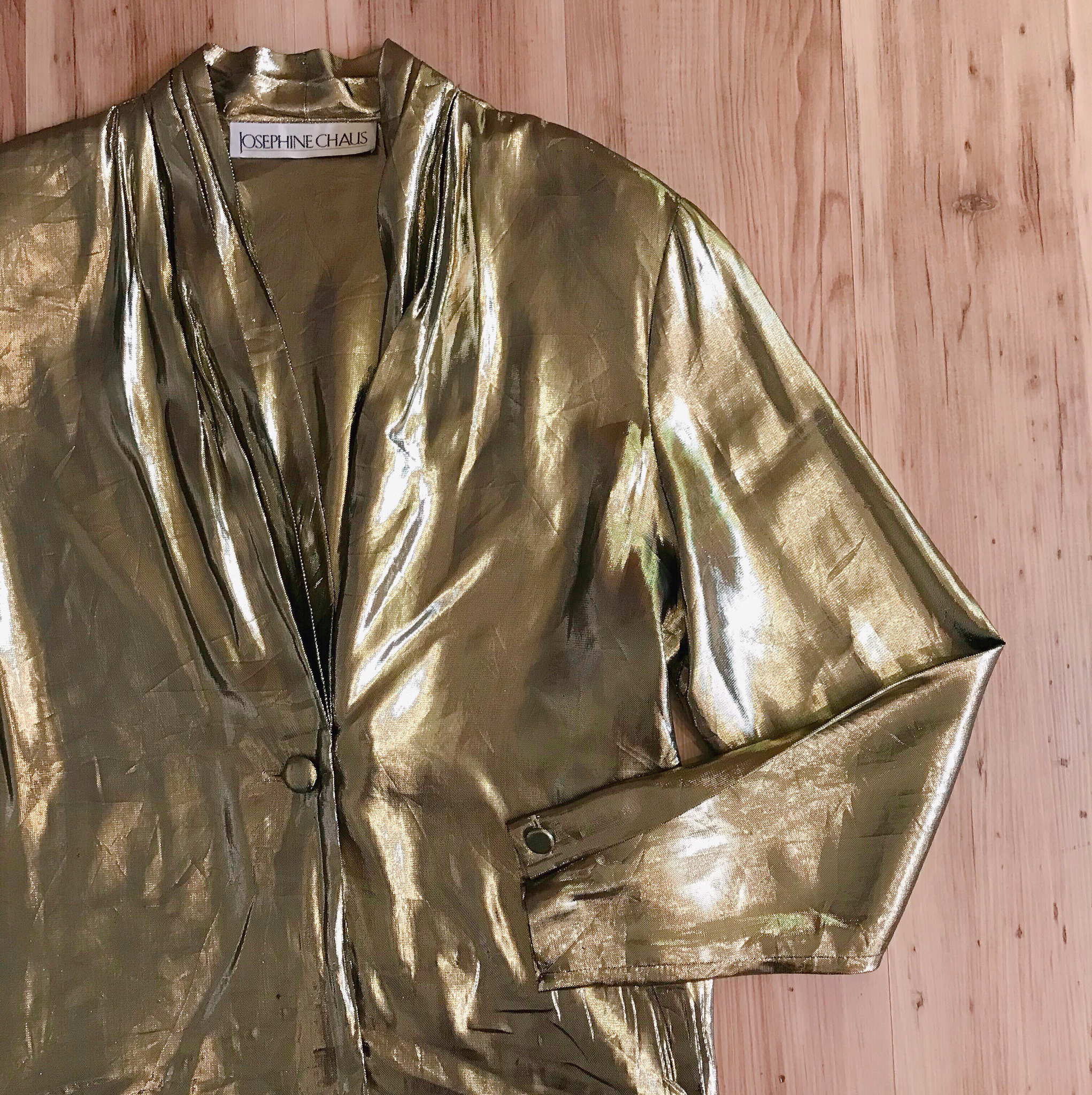 1980s Liquid Gold Blouse