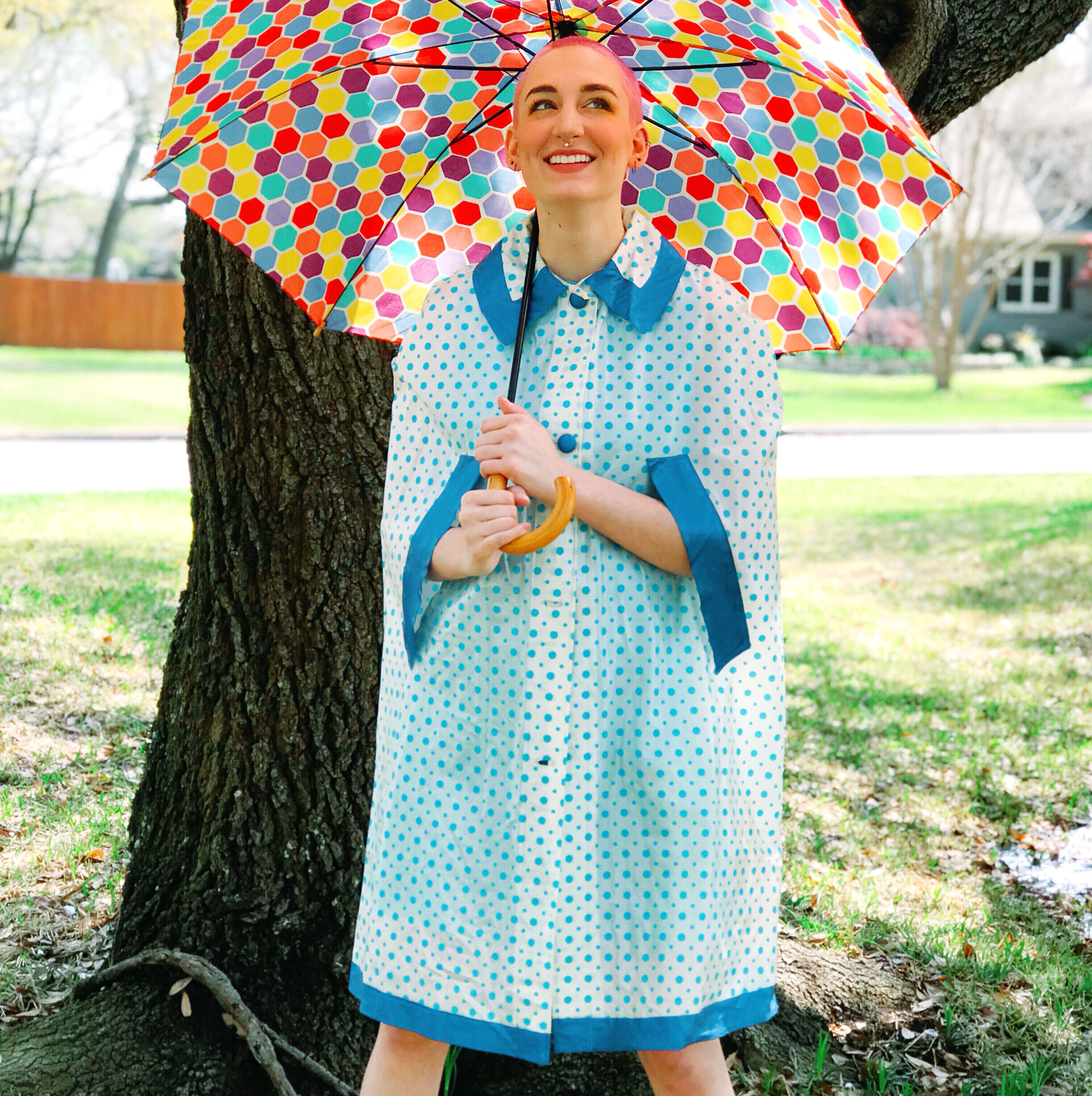 1960s Rainy Days Poncho 00028