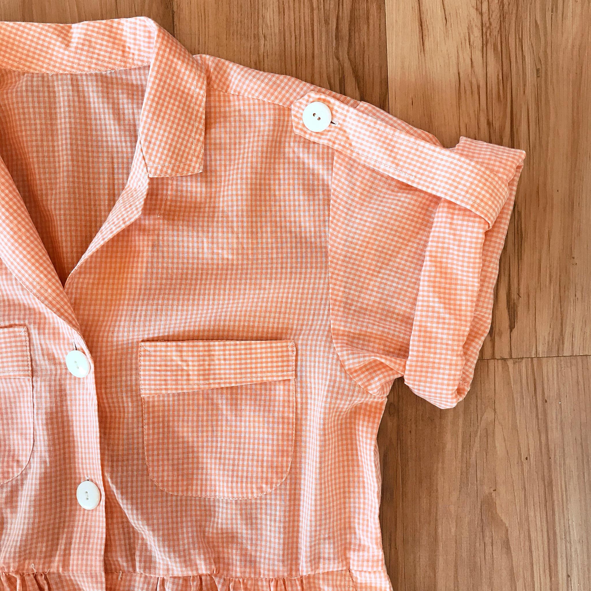 1960s Peachy Keen Gingham Dress