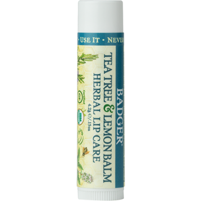 Badger Herbal Lip Care with Tea Tree and Lemon Balm