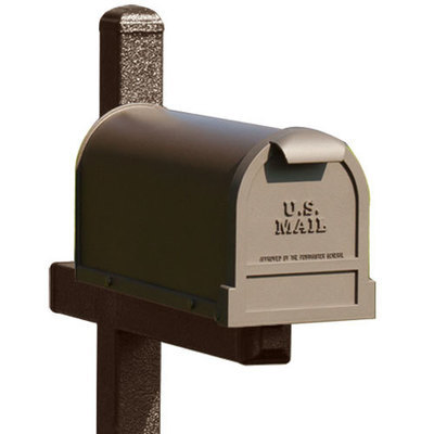 Brown Mailbox Post