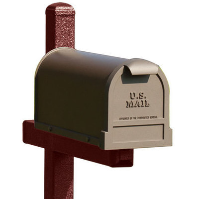 Dark Red Mailbox Post