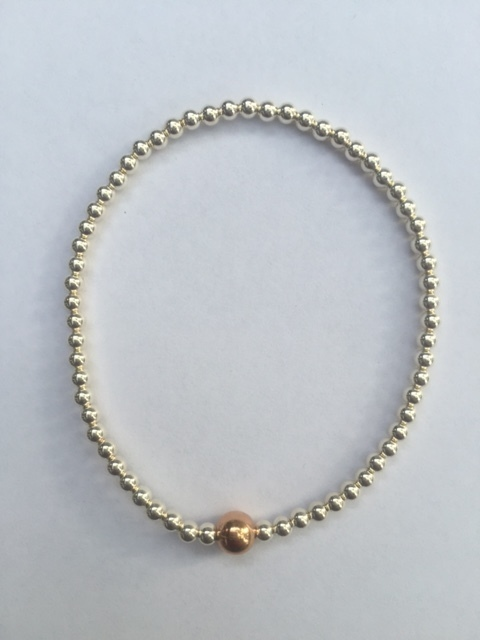 Mila Bracelet Sterling Silver and Gold Filled balls