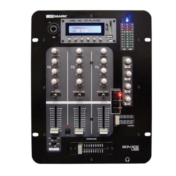 Mark Sion 302 USB 3 Channel DJ Mixer