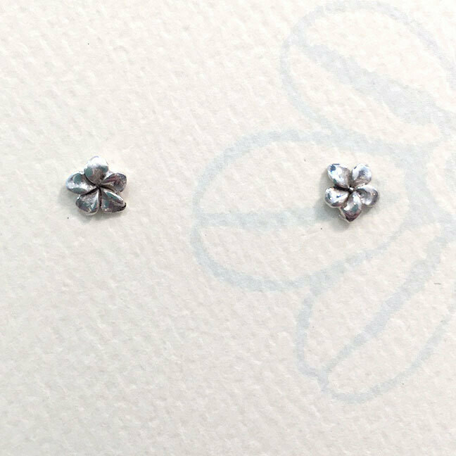 Plumeria Stud Earrings (tiny)