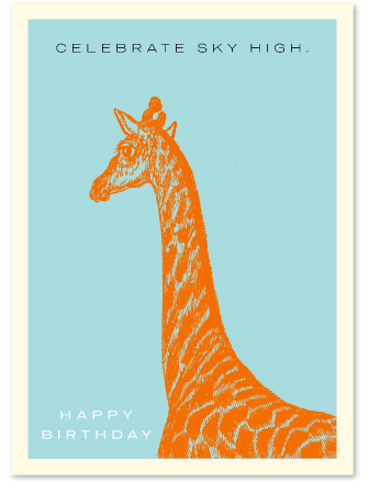 Birthday Giraffe IDGRHB