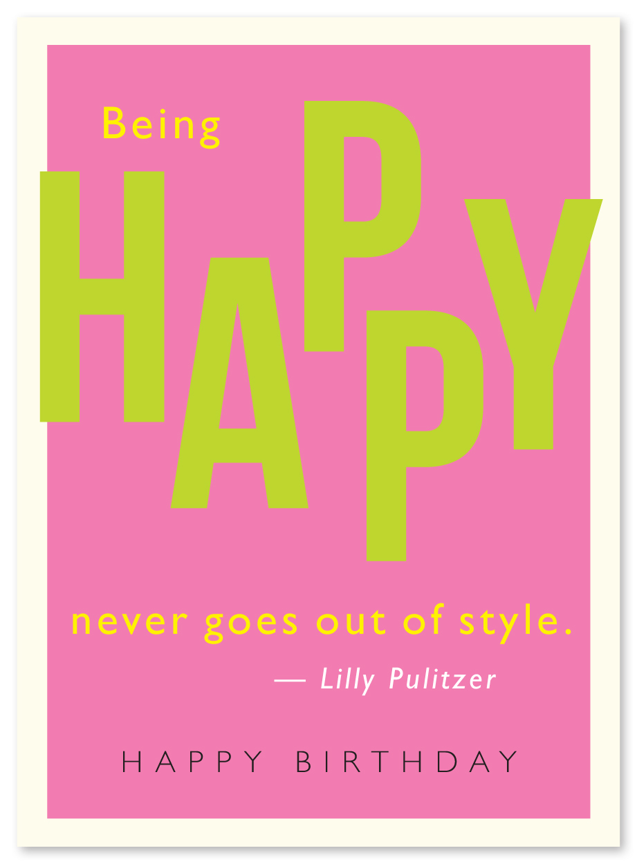 be happy quote birthday card cq29
