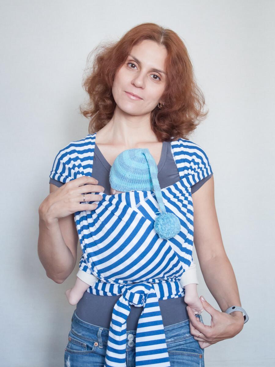"""Слинг-шарф Karaush """"Тельняшка"""" трикотажный"""