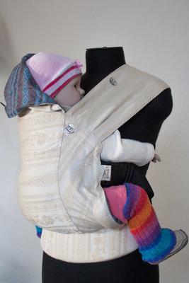Эрго рюкзак Karaush Adel Baked Milk/Adel Turqouise (чер) двусторонней носки