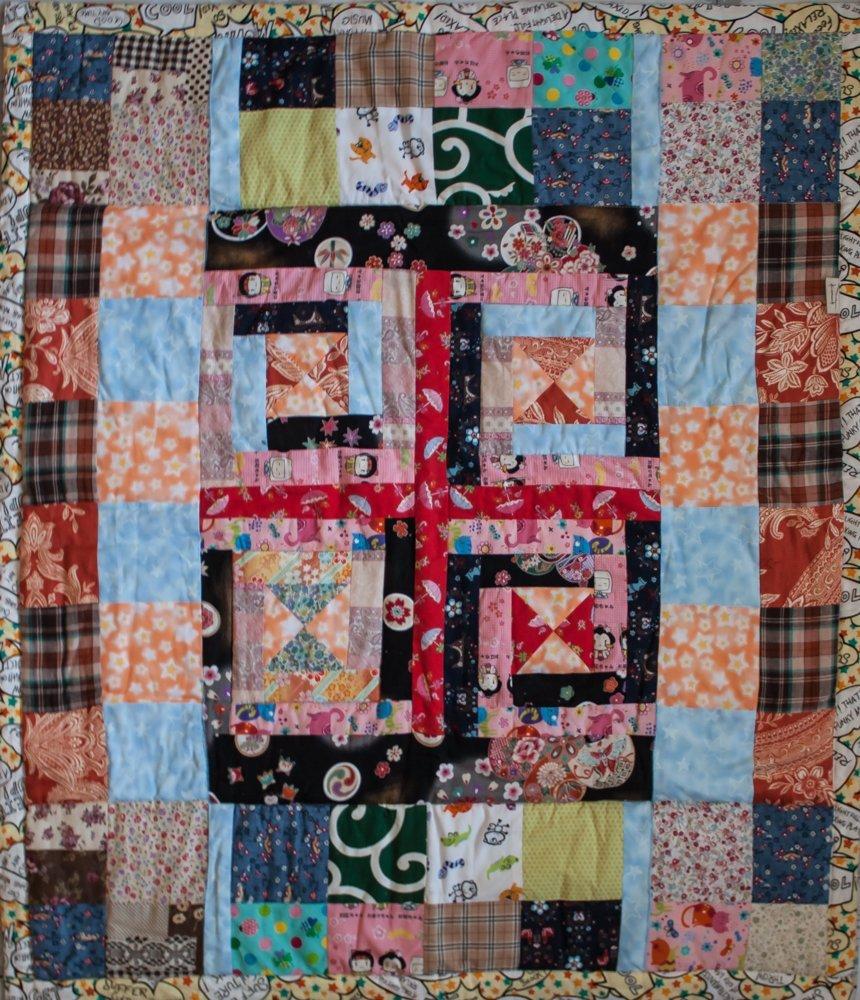 """Лоскутное одеяло """"Скрытая симметрия"""""""