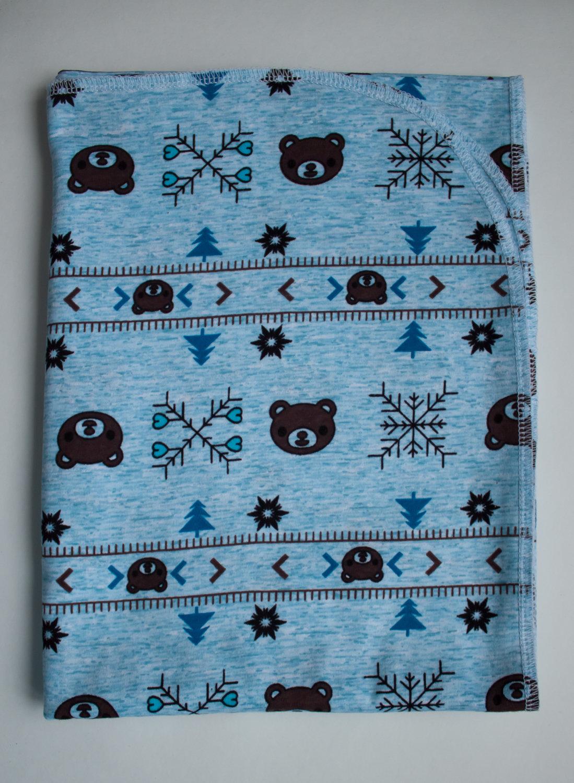 пеленка трикотажная 90х120 Снежные мишки