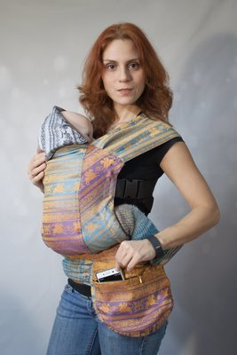 Эрго рюкзак Karaush Adel Elegance/Kuzma Rainbow Opal двусторонней носки
