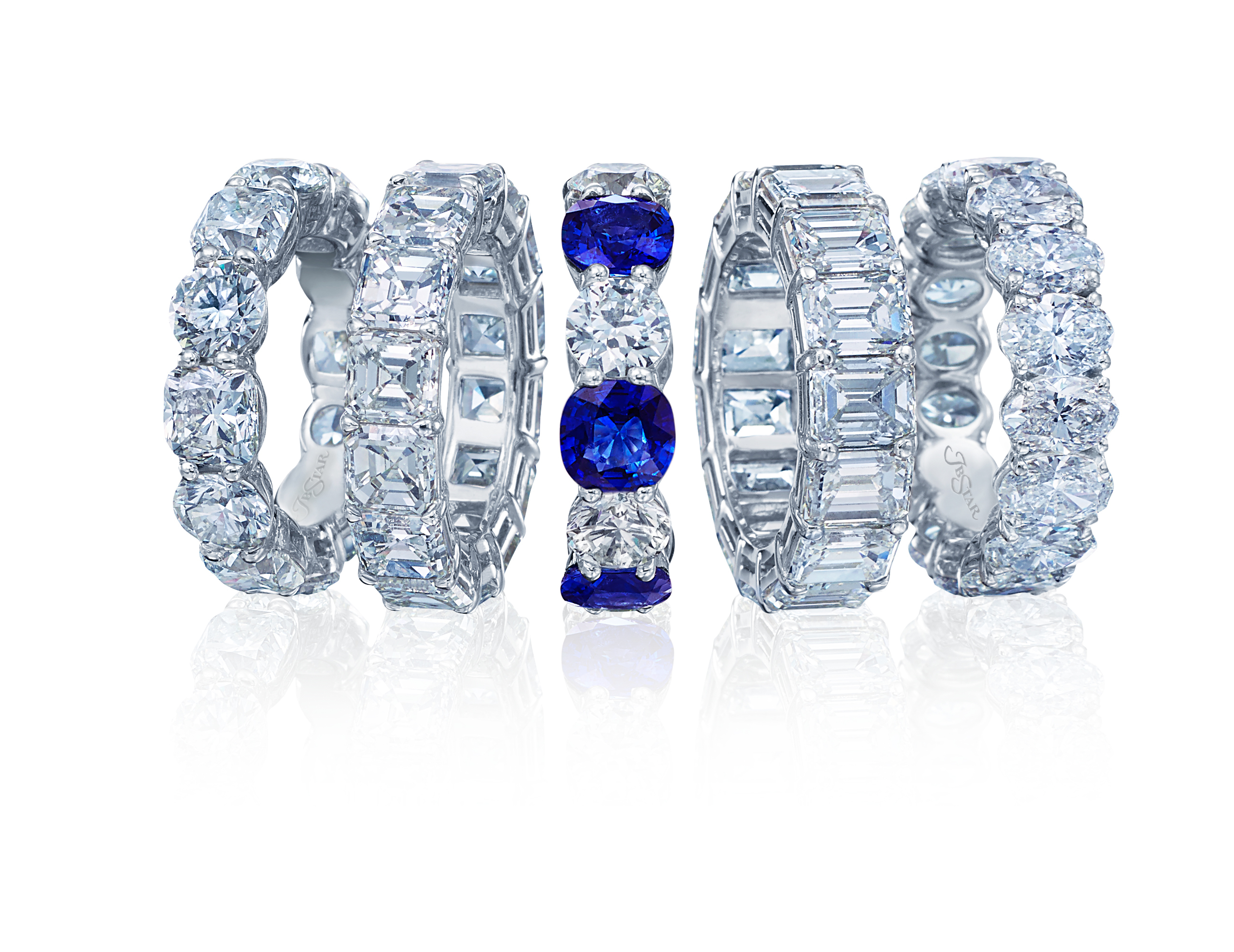 glr products platinum carat engagement natural ring bands sapphire diamond