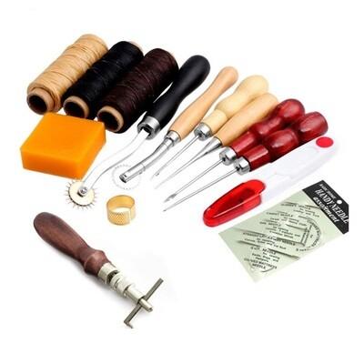 Kit de Costura para Cuero, incluye 14 piezas.