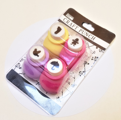 Set 4 Mini Punch Troquel Scrapbook figuras