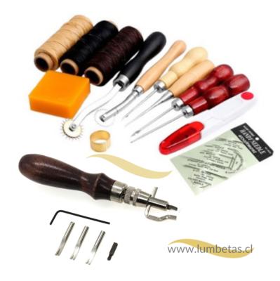 Kit de Costura Cuero con Biselador, Ranurador y Descarnador de borde