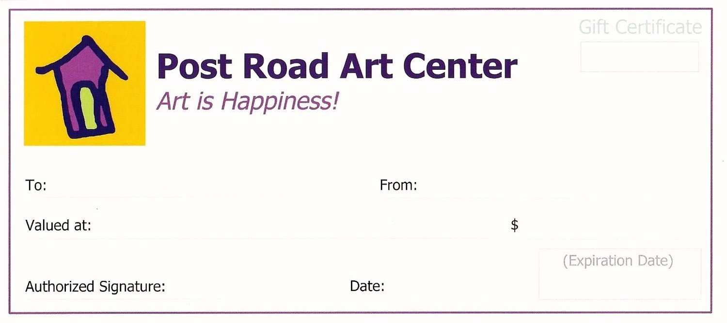 Post road art center online store purchase a gift certificate starting at 20 xflitez Image collections