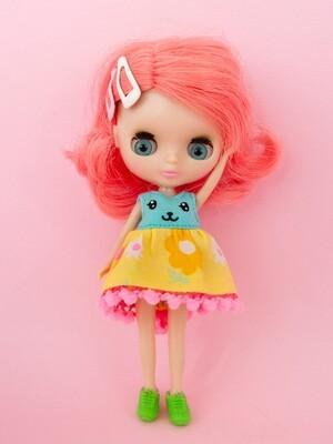 Funny Bunny dress for Petite Blythe - Robin's Egg Blue