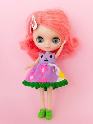 Funny Bunny dress for Petite Blythe - Lavender