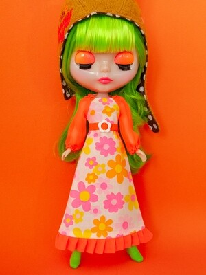 Maxi Dress for Neo Blythe: Neon Orange