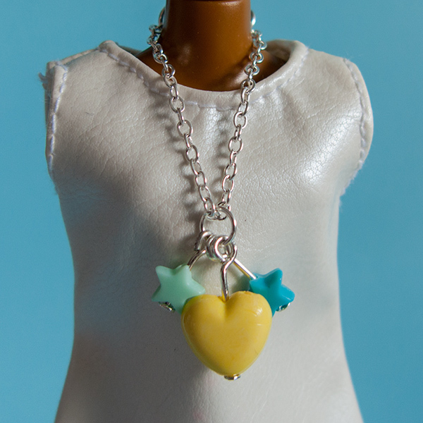Chain necklace: Yellow Heart 00219