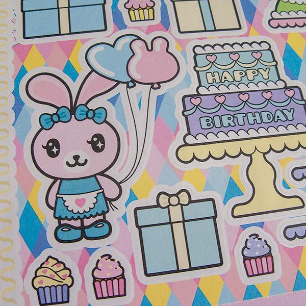 Funny Bunny Sticker Sheet: Happy Birthday! 00278