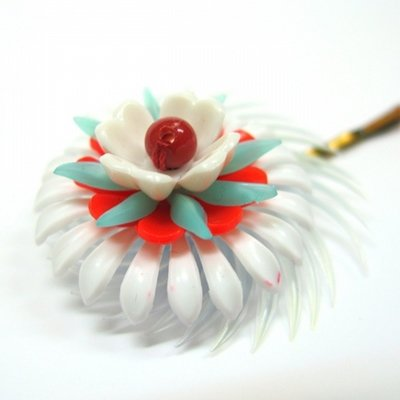 Vintage flower hair pin XL