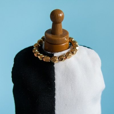 Ring Necklace: Golden Faceted