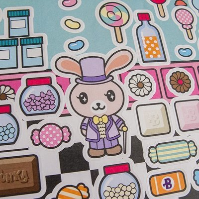 Funny Bunny Sticker Sheet: Willy Wonka and the Chocolate Factory