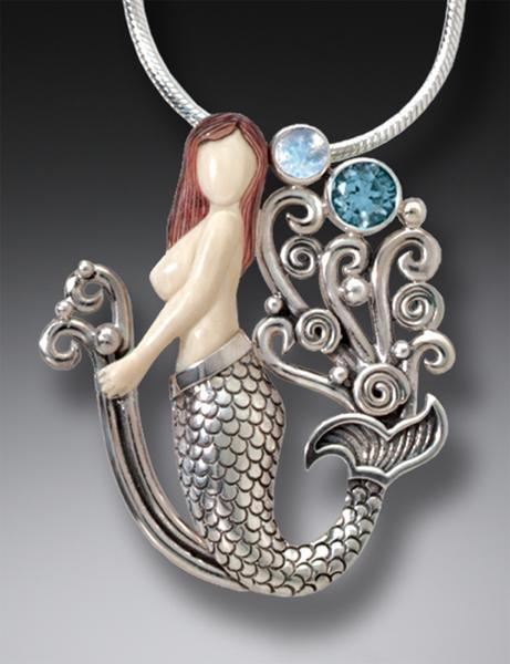 DESIGNER JEWELRY-STERLING SILVER-MERMAID JOY SBTM717N