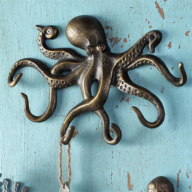 WALL HOOK-SWIMMING OCTOPUS SP34061