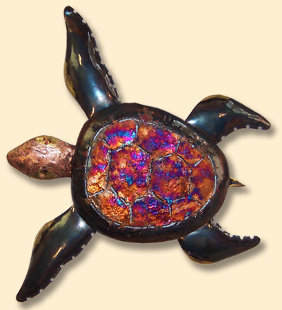 COPPER DRIP WALL ART-SEATURTLE