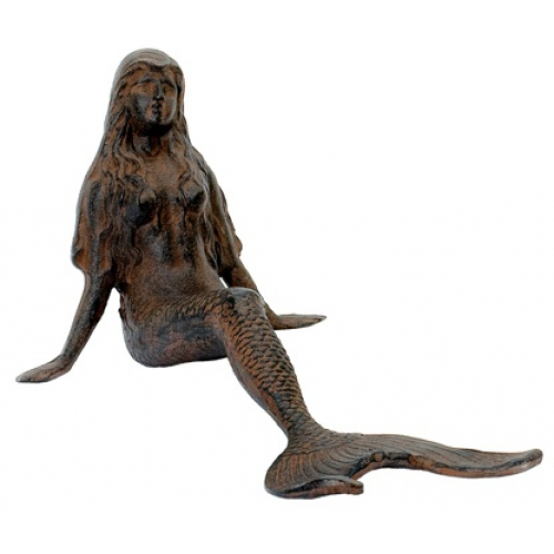 SIREN SCULPTURE-MERMAID LEANING A586