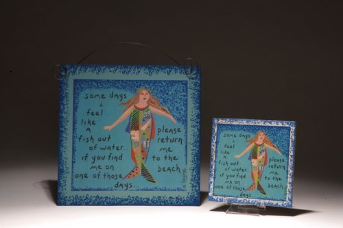 MERMAID WALL PLAQUE 1HCP