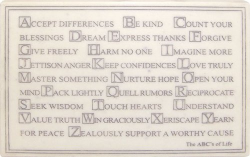 MARBLE PLAQUE-ABC'S OF LIFE HP3938